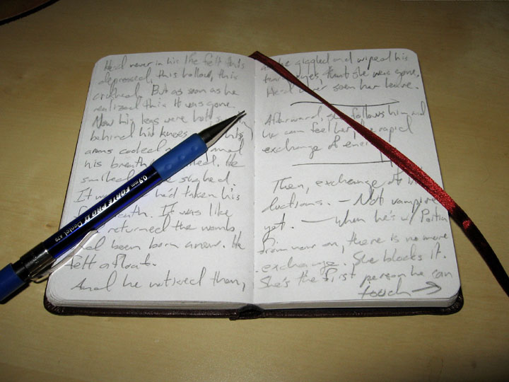 Open Writing Notebooks My current notebook  open toOpen Notebook With Writing