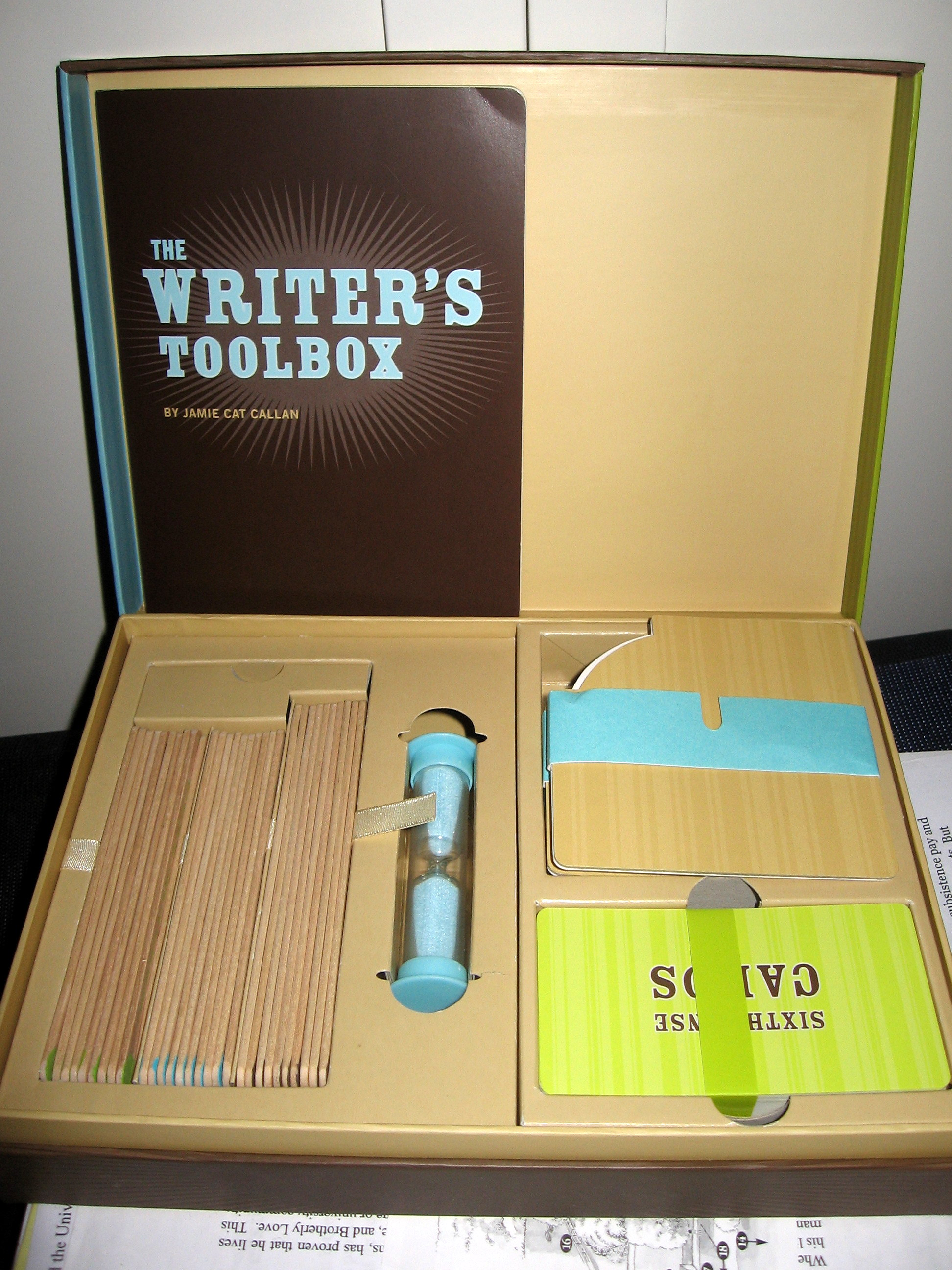 A Writer's Notebook: The Writer's Toolbox, Protagonist Game