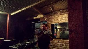 Reading at the release of the Portland Review Winter 2014 issue, at the East End in Portland, OR, April 2014.
