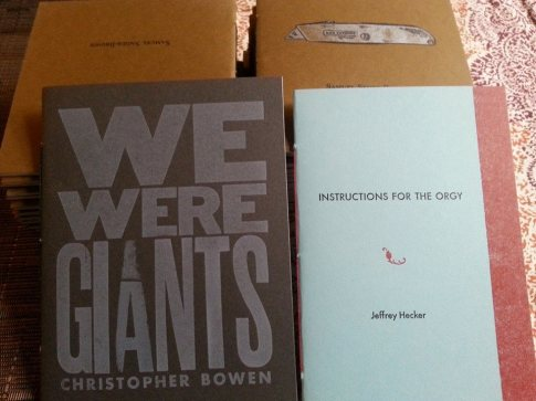 We Were Giants, by Christopher Bowen; Instructions for the Orgy, by Jeffrey Hecker