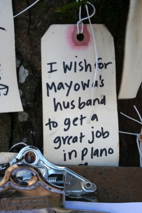 I wish for Mayowa's husband to get a great job in Plano. (TX?)