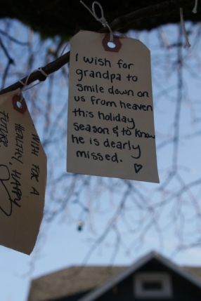 I wish for grandpa to smile down on us from heaven this holiday season & to know he is dearly missed. <3