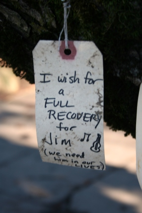 I wish for a full recovery for Jim (we need him in our lives!)