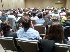 "The ""Literary Politics"" panel was standing-room only!"