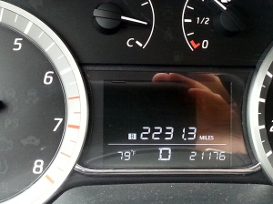 In all, I drove more than 2230 miles!