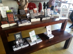The book table display.