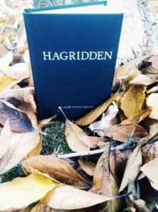 Columbus reader Schyler M's copy of Hagridden, in a lovely fall-themed photo!