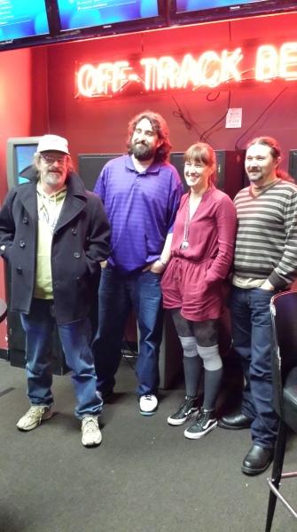 Douglas Spangle, Pecos B. Jett, Alexis Orgera, and me