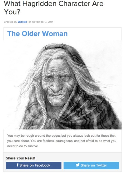 hagridden quiz old woman