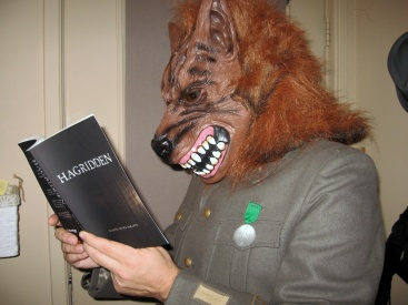 Reading the chapter about making the wolf mask!