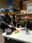 Nick Hornby signing my books (thanks to the Powell's staff for taking this photo!)