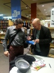 Nick Hornby signing my cast (thanks to the Powell's staff for taking this photo!)