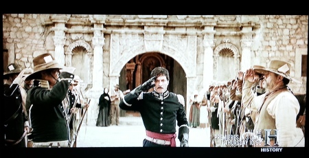 But that is Juan Seguin, who really did return to the Alamo to collect the ashes and bury them.