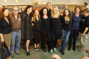 From left to right: Suzy Vitello Soulé, Stevan Allred, Monica Drake, Ellen Urbani, Rene Denfeld, Joe Kurmaskie, Cheryl Strayed, Elissa Wald, Valerie Geary, and Katie Schneider. (Photo by Laura Stanfill.)