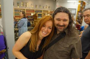 Ellen Urbani and me at her Landfall book event. (Photo by Laura Stanfill.)