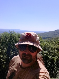 Me at the overlook from Morgan's Steep on the Perimeter Trail.
