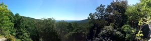 The overlook from Morgan's Steep on the Perimeter Trail.