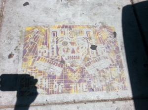 Sidewalk art in the Mission District of San Francisco.