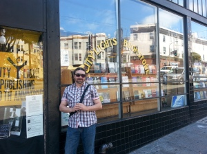 Me at the historic City Lights Books.