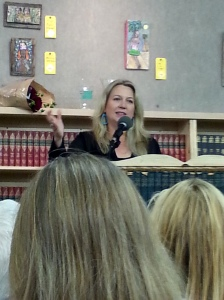 Cheryl Strayed, introducing Ellen Urbani.