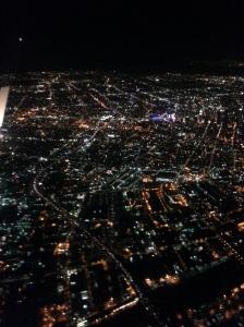 Flying in over LA