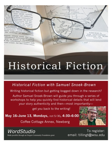 Historical Fiction flyer