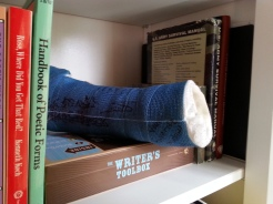 My cast with the autographs of Nick Hornby and Scott McCloud.
