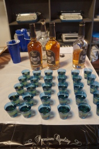 We used the whiskey shots for the birthday toasts (photo by LS)