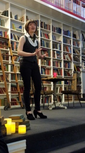 Sarah Comer, a professional storyteller and musician