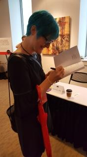 Kate Ristau signing my copy of Clockbreakers