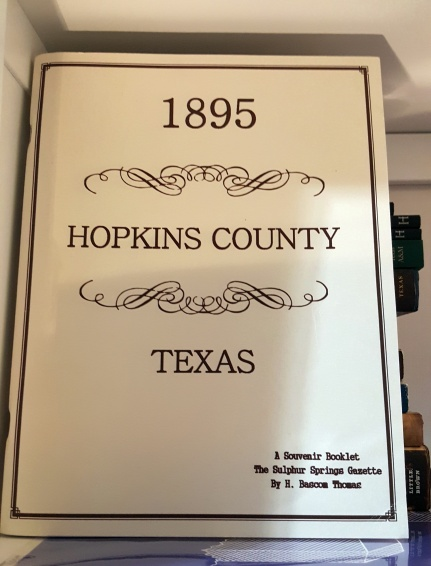 A reference work on Hopkins Countty, Texas -- another great research find from my mother-in-law