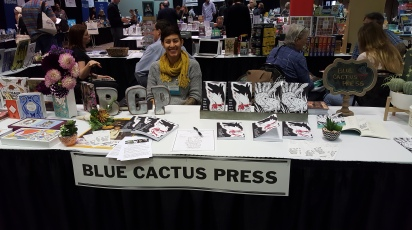 Christina Butcher at the Blue Cactus Press table